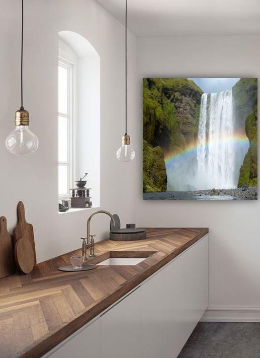 Waterfall ánd rainbow