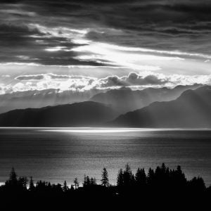 Sunset Alaska BL/W