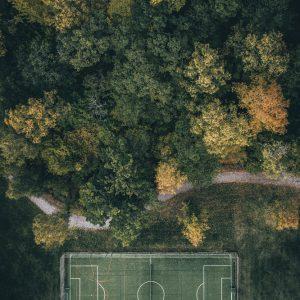 Soccer field by Hans Logren