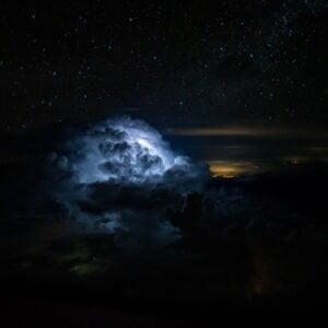 Glowing thundercloud by Santiago Borja aka The Stormpilot