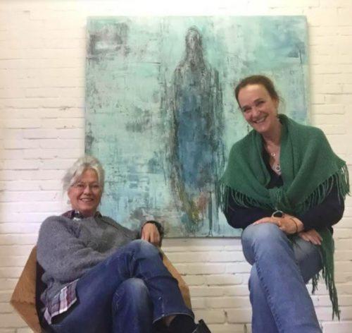 Barbara Houwers (l) en Nicky Huisman (r)