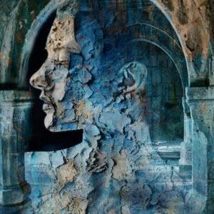 Between the Pillars | Digital Photo Art